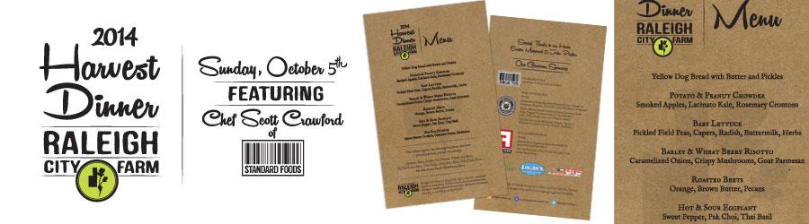 RCF Harvest Dinner Logo and Menu/Program