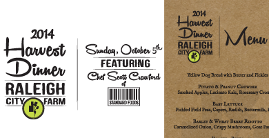 RCF Harvest Dinner Logo and Menu/Program
