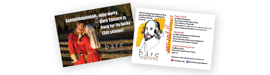 Bare Theatre Postcard